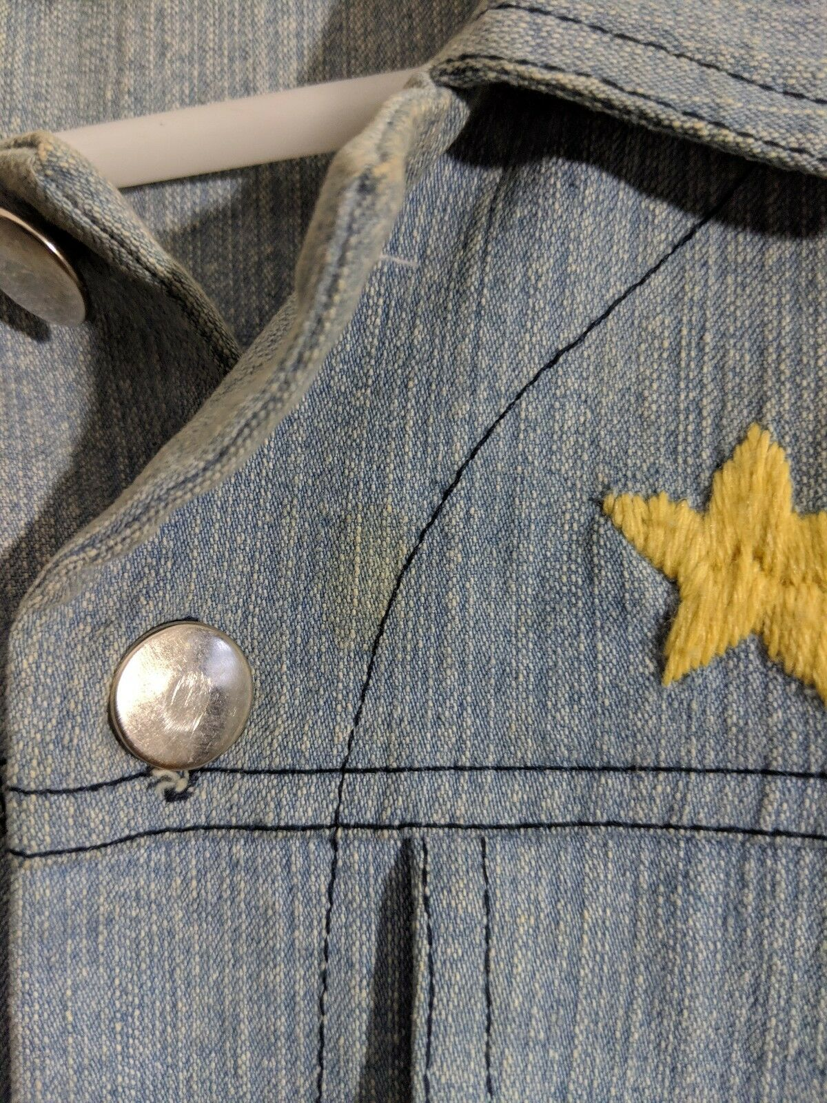 Romance Was Born Rainbow Denim Embroidered Jacket… - image 7
