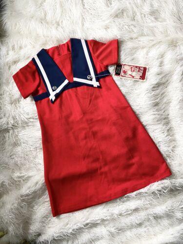 Vintage Deadstock Penneys Red Sailor Mld Dress