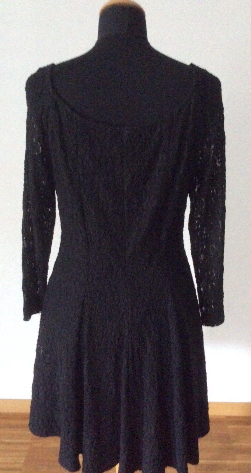 Klassisches Kleid aus Spitze Farbe Schwarz Größe 38 - 40 40 40 b70bbc