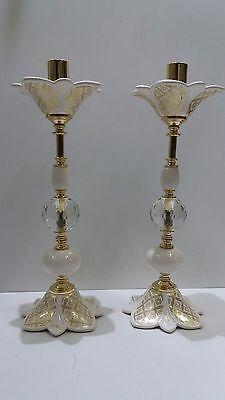 Competente Coppia Candelieri A 1 Fiamma Via Veneto Foglia Oro Ceramica Arredo Casa Sala Acquista Ora