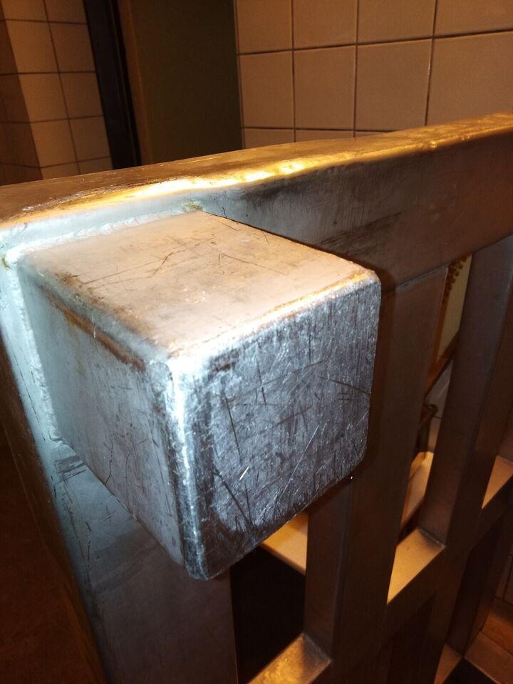 Rustfri stål palle