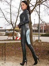 Lederhose Leder Hose Schwarz / Grau Reiterhosen-Style Maßanfertigung