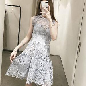 010780dbf95  345 SELF PORTRAIT Pale Blue Circle Floral Lace Mini Dress SP18-073 ...