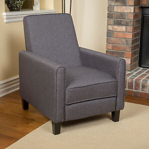 Image Is Loading Hinus Contemporary Smoky Club Chair Recliner