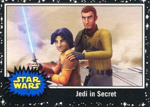 Star Wars The Last Jedi Black Base Card #14 Jedi in Secret