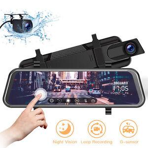 TOGUARD-10-034-Mirror-Dash-Camera-Car-Streaming-Touch-Screen-Dual-Lens-Night-Vision