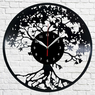 Tree Of Life Record Wall Clock Vinyl Art Home Decor