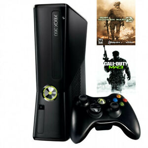 Details About Microsoft Xbox 360 S Black 4gb Console Bundle Call Of Duty Modern Warfare 2 3