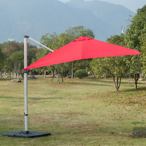 3M-Patio-Parasol-Offset-Cantilever-Umbrella-360-Rotate-w-Stand-Red