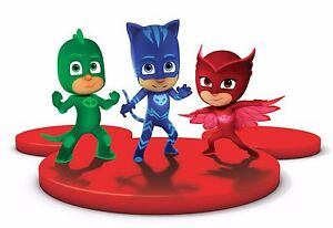 Image Is Loading PJ MASKS Birthday Party Edible Cake Topper 1