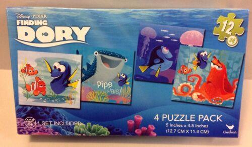 Disney Pixar Finding Dory Nemo 4 Puzzle Pack Gift  Set 12 Piece NEW