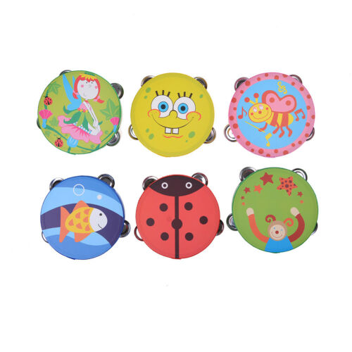 Baby Kinder Holz Musical Spielzeug Trommel Rasseln SpielzeugTamburinLernspielzWH