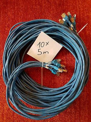 10x Cat.5e Ftp Kabel 5 M Blau Patchkabel Lan Dsl Netzwerkkabel Network Cable Reines Und Mildes Aroma