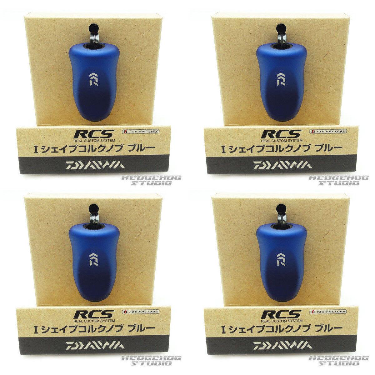 DAIWA Genuine SLP WORKS RCS I Shape Cork Knob - blueE x 4pcs