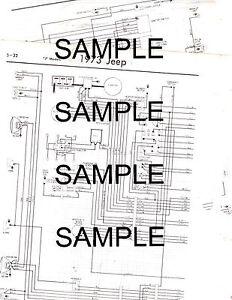 1974 jeep wagoneer cherokee j10 j20 2wd-4wd 1/2 3/4 ton 74 wiring chart  diagram | ebay  ebay