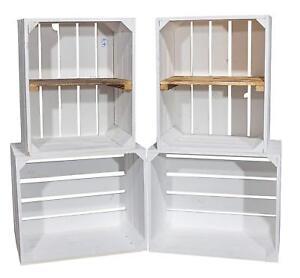 Diy Set 4 Kisten Gemischtes Paket Weisse Holzkisten Weinkisten