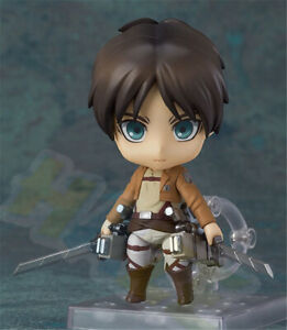 Nendoroid-375-Attack-on-TItan-Eren-Yeager-4-034-PVC-Action-Figure-Model-Toy-In-box