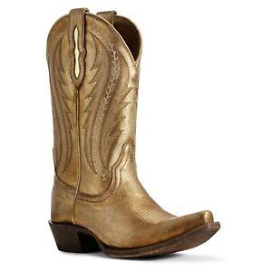 Ariat-Ladies-Gold-Metallic-Tailgate-Western-Boots-10029678