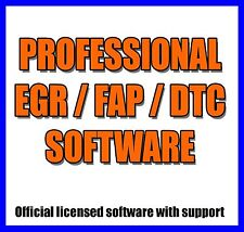 SOFTWARE PROFESSIONALE RIMOZIONE DFP DPF FAP EGR HOT START DTC 2017 dpferase