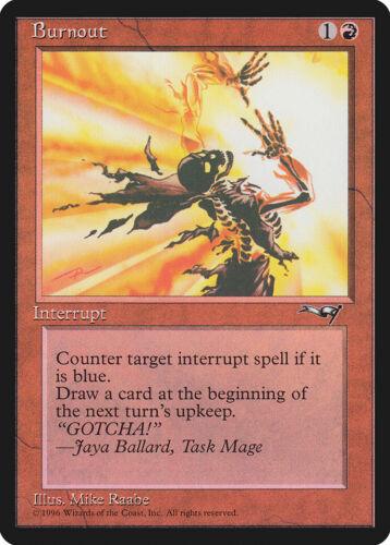 1 x Burnout MTG Magic The Gathering Alliances LP