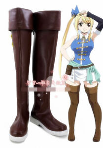 Cosplay Boots Shoes for Fairy Tail Lucy