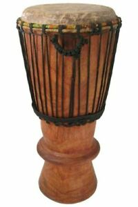 """Hand-carved Bugarubu Drum From Africa - 9"""" X 24"""" - Djembe Conga Mix"""