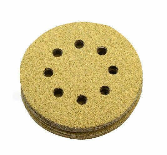"""30Pc 5/"""" Sanding Disc Orbital Sander Sandpaper Hook Loop 60-600 Grit Assorted Pad"""