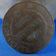 ancienne piece FRANCE 2 CENTIMES AN 43 1846   haiti 16