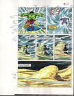 Original 1985 Marvel Comics Hulk 309 color guide art page 20:1980s Avengers hero