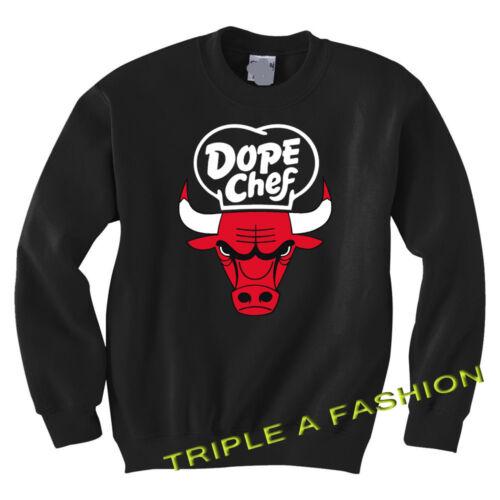 DOPE BULL// CHICAGO CHEF BLACK SWEATSHIRT Geek//MICKEY HAND
