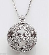 Swarovski Necklace - Silver Crystal Jewelery Hemisphere Pendant - 1023971