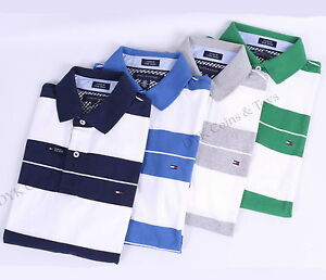 NWT TOMMY HILFIGER MEN S CUSTOM FIT JERSEY GOLF STRIPE POLO SHIRT ... 6726ebba32af