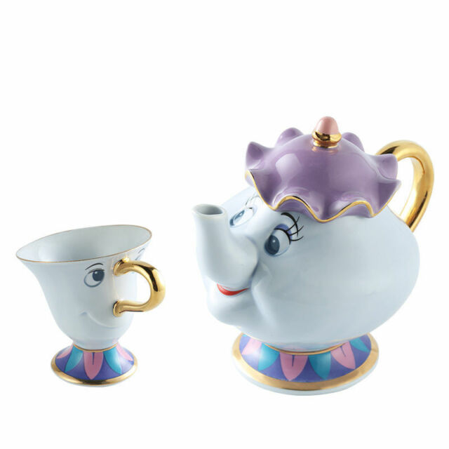 Beauty And The Beast Teapot Cartoon Mug Mrs Potts Chip Tea Pot Cup Set Gift