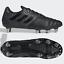 miniature 1 - Adidas Kakari Elite SG Homme Rugby Bottes Cuir Noir 8 Boucles transmet Toutes Tailles