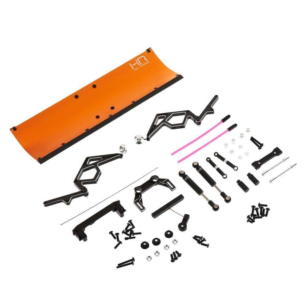 Hot-Racing SCX1213P03 CNC orange Aluminum Snow Plow SCX10 II