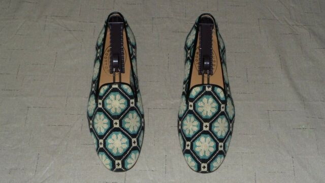 RARE! Men's $495 Stubbs & Wootton Needlepoint & Leather Loafers Slippers Shoes