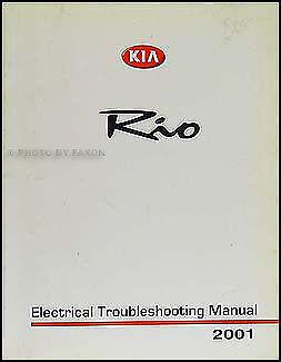 2001 kia rio electrical troubleshooting manual wiring diagram original |  ebay  ebay