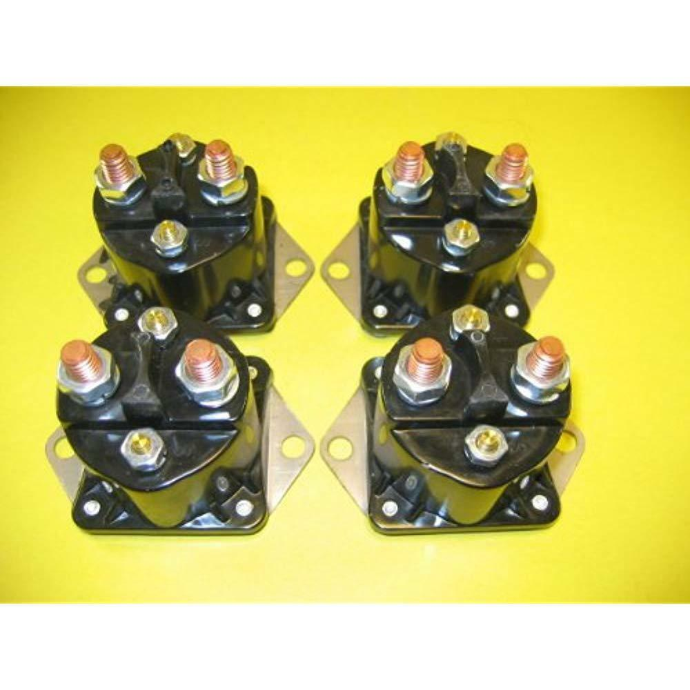 4 PCS 12V Winch Solenoid Contactor For Warn Switch Thumb Scooter Kit 28396 15487