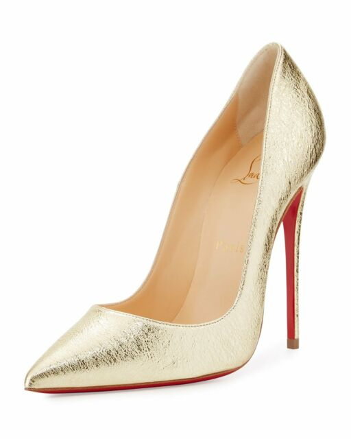gold louboutin pumps