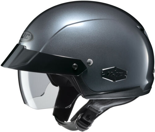 HJC IS-CRUISER MOTORCYCLE HALF HELMET ANTHRACITE XXLARGE 2XL 0824-0117-08