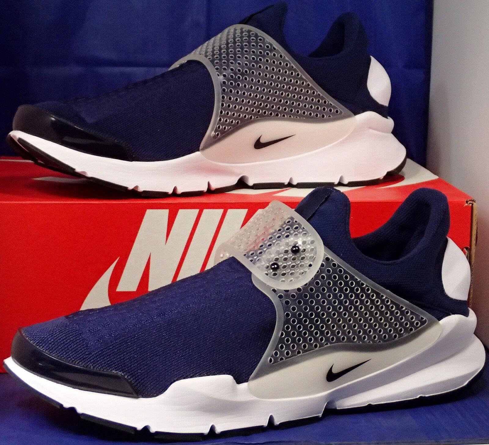 Nike sock dardo mezzanotte blu scuro, bianco nero sz 12 (819686-400)