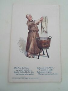 PECKHAM-RYE-FAMILY-LAUNDRY-Vintage-Advertising-Postcard-Franked-1908-B102