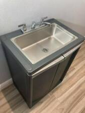 Portable Sink Mobile Handwash With Hot Amp Cold Water Fullsize Basic 2021 D Gray
