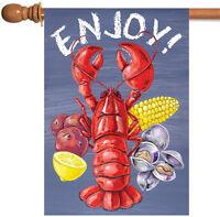 Toland - Lobster Clam Bake - Enjoy Seafood Corn Lemon House Flag