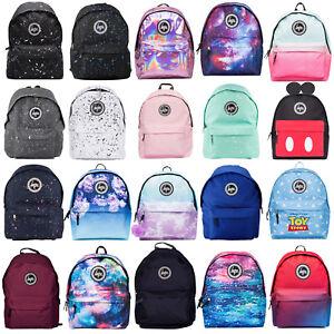 Image is loading Hype-Backpack-Rucksack-Bag-Black-Burgundy-Navy-Blue- eaa425edb81f5