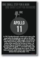 1969 Apollo 11 - Neil Armstrong Moon Landing Classroom History Poster