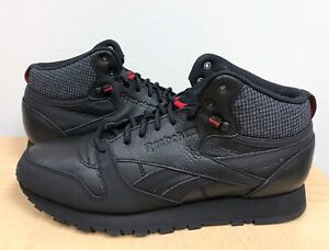 0fbfe221d67d2 MENS REEBOK CLASSIC LEATHER MID TWD Black Excellent Red Blackstone ...