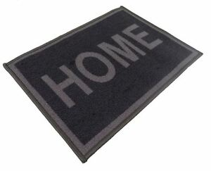 LARGE HOTEL QUALITY HOME RUG MAT CARPET GREY THICK PILE NYLON LATEX 57 X 120CM
