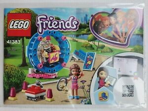 Lego Friends 41383 Olivia/'s Hamster Playground instruction manual BOOK ONLY new