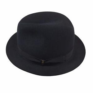 Caricamento dell immagine in corso BORSALINO-cappello-uomo-blu-con-gro-in- tinta- 25c5606dc56e